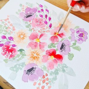 Watercolor Intermediate Loose Flowers