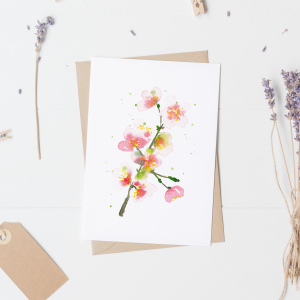 Cherry Blossom Postcard / Mini Poster