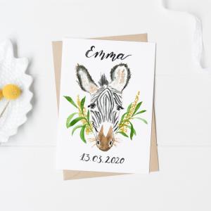 Zebra Postcard / Mini Poster