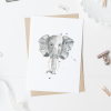 Baby kaart poster olifant