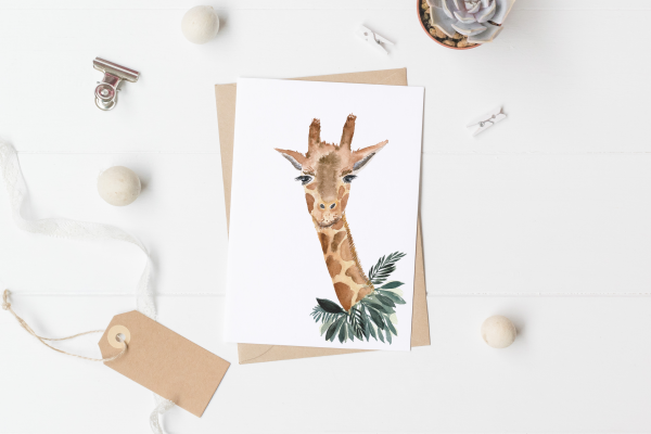Card Mini poster Giraffe