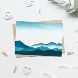 Calm Mountains Postcard / Mini Poster