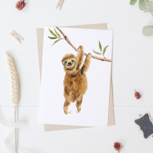 Sloth Postcard / Mini Poster