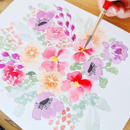 Watercolor_Intermediate_Loose_Flowers